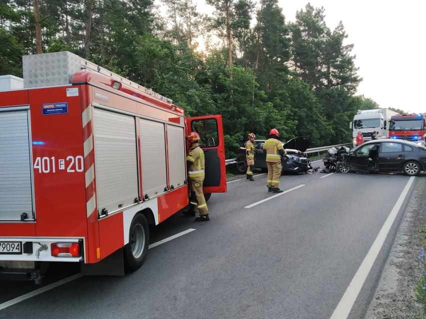 Do groźnego wypadku doszło na drodze krajowej nr 158 w...