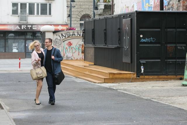 Kontenery usługowe mają być przyszłością podwórka przy ul. Piotrkowskiej 138/140