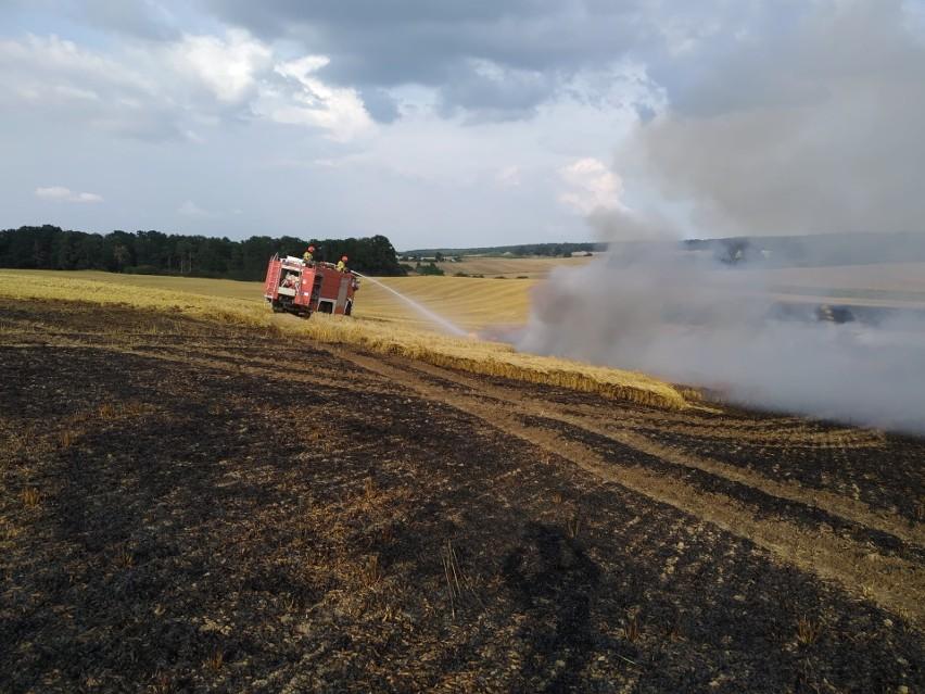 Pożary upraw w powiecie strzelecko - drezdeneckim