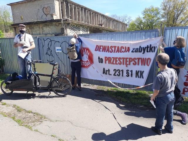 W niedzielę odbył się protest przeciw budowie prywatnego akademika na terenie AWF-u