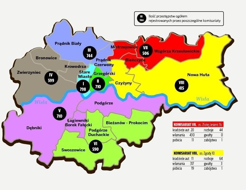 Oto Mapa Strachu Krakowa Najbezpieczniejsza Jest Nowa Huta
