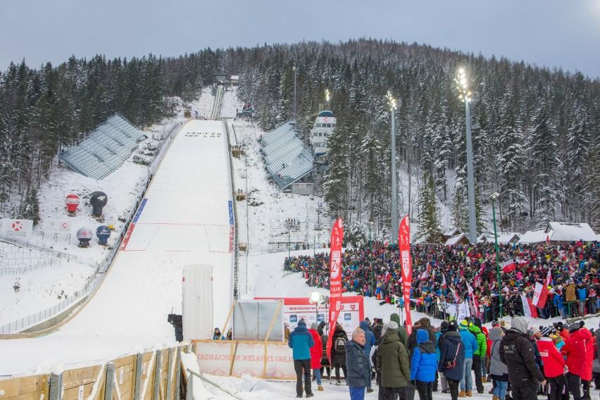 Wielka Krokiew w Zakopanem podczas Pucharu Świata w skokach narciarskich.