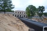 Sosnowiec: remontowany dworzec w Maczkach ma już dach
