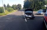 Wypadek w Stargardzie. Zderzenie dwóch aut. Jeden kierowca się oddalił