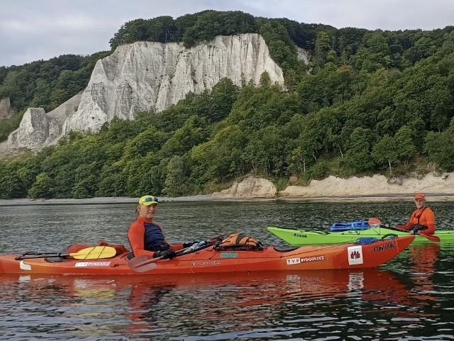 Bydgosko-gdańska ekipa kajakarzy opłynęła wzdłuż wybrzeży Rugię - największą wyspę Niemiec