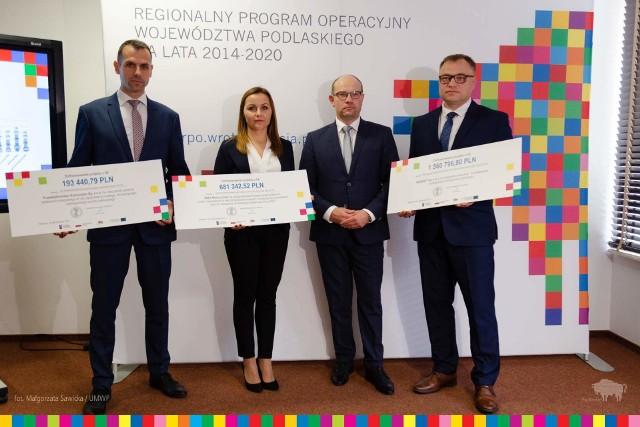 Ponad 2,4 mln zł wsparcia z Regionalnego Programu Operacyjnego otrzymały trzy podlaskie przedsiębiorstwa, które wprowadzą na rynek innowacyjne produkty.