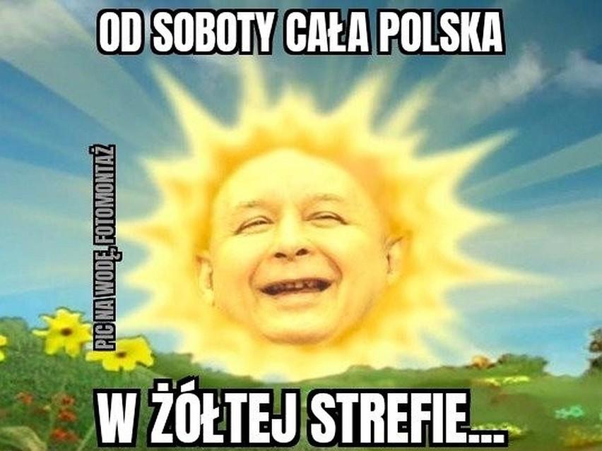 Żółta strefa w Polsce - najlepsze MEMY. Przesuwaj zdjęcia w...