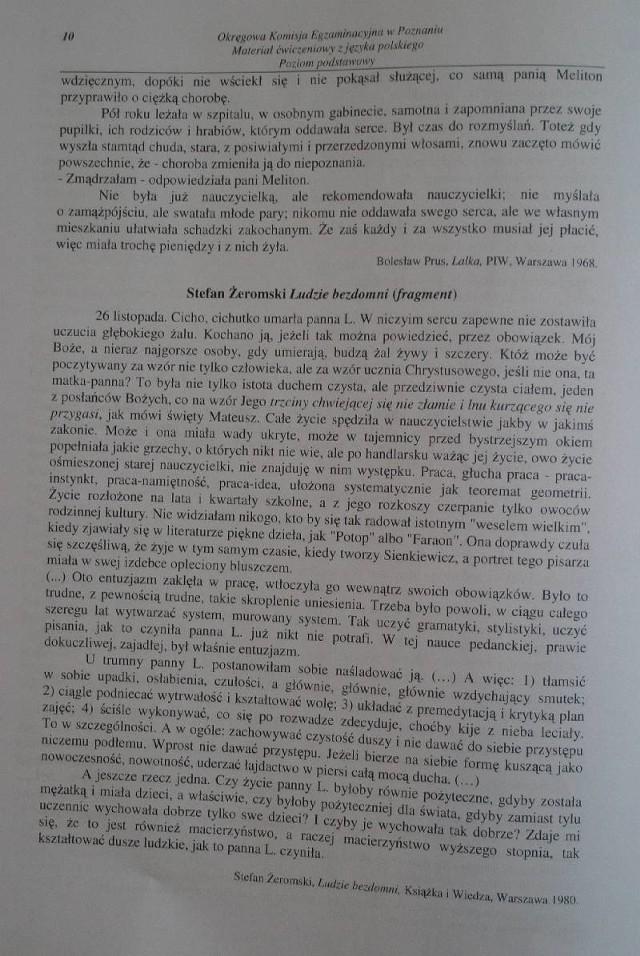Język polski, zadania, strona 10