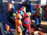 Wypadek na budowie osiedla Port Popowice. Szalunek przygniótł robotnika [ZDJĘCIA]