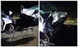 Bokiny. Wypadek na drodze do miejscowości Sokoły. Cztery osoby ranne po czołowym zderzeniu