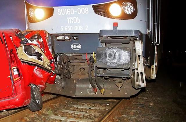 Wypadek na przejeździe kolejowym w Bieczu