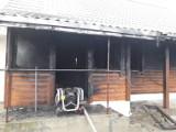 Pożar domu. Mieszkańcy z lekkimi poparzeniami (zdjęcia)