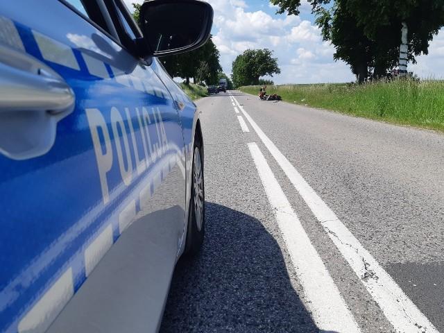 Droga w miejscowości Planta była po wypadku całkowicie zablokowana