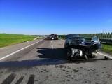 Wypadek na autostradzie A4 w okolicach Jarosławia. Zderzyły się dwa samochody, są ranni [ZDJĘCIA]