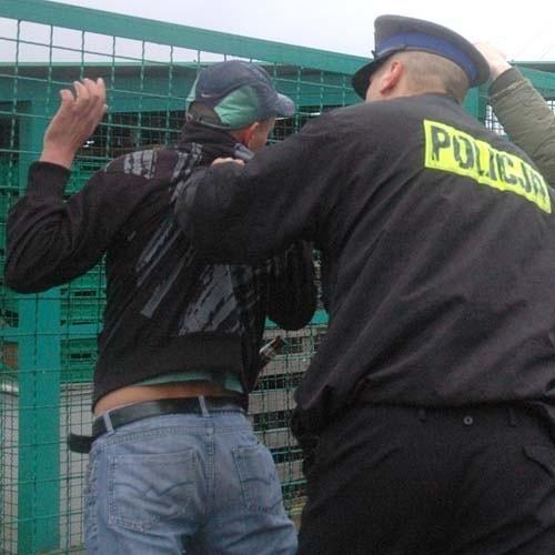 Policjantom udało się zatrzymać napastnika