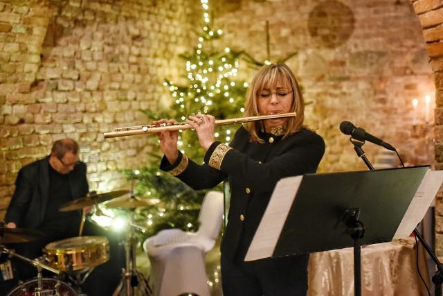 Lidia Sieczkowska i perkusista Krzysztof Przybyłowicz