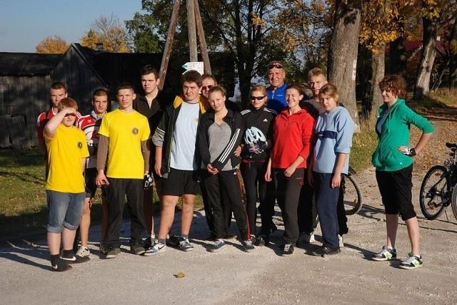 Uczestnicy rowerowej wyprawy w Góry Bystrzyckie i Orlickie