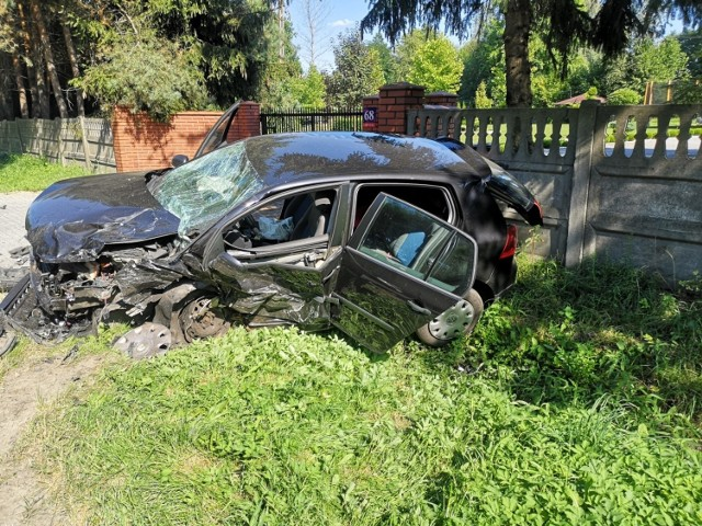 W Łopatkach zginął młody kierowca.