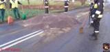 4 tony rzepaku blokowały drogę pod Kruszwicą [zdjęcia]