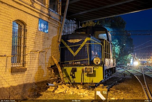 Kolizja lokomotywy w Kluczborku