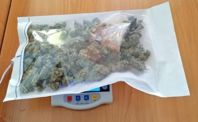 Marihuana zabezpieczona przez nyskich policjantów.