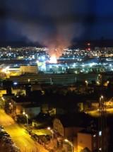 Pożar w Gdyni. Paliły się altanki. Na miejscu pięć zastępów straży pożarnej