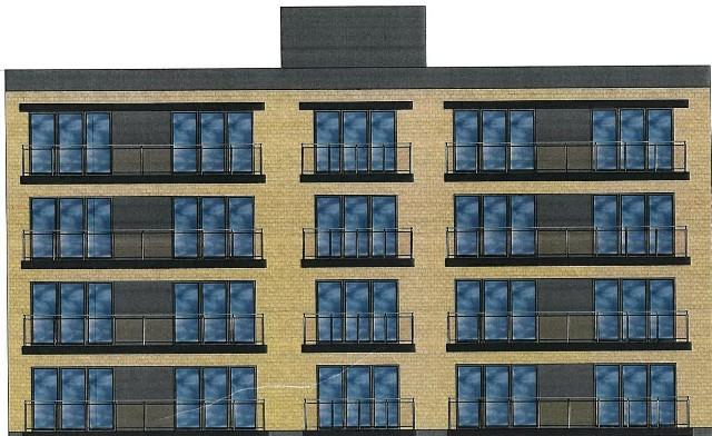 Taki budynek planuje na rogu Modlińskiej i Poprzecznej prywatny inwestor. Na dachu ma być pasieka