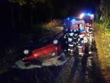 Wypadek na trasie Zduny - Baszków - za kierownicą siedział pijany 17-latek [ZDJĘCIA]