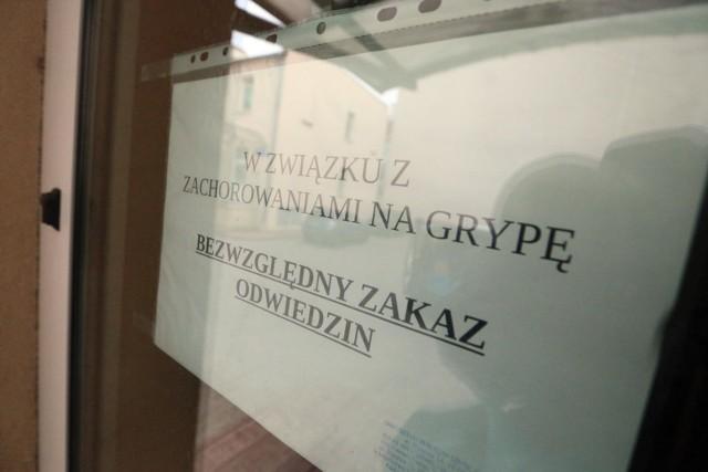 Sezon zachorowań an grypę w województwie łódzkim w 2020 roku.