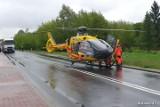 Wypadek w powiecie stalowowolskim. W zderzeniu TIR-a z osobówką ranne zostały trzy osoby - po jedną przyleciał śmigłowiec LPR (ZDJĘCIA)