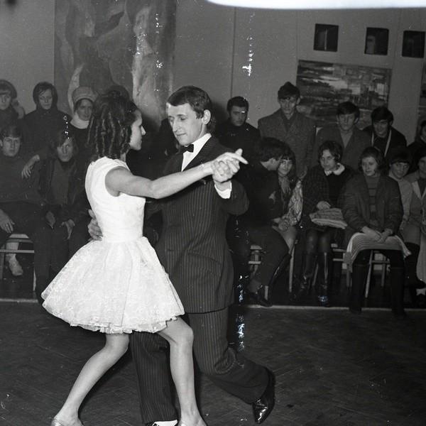 Turniej tańca w miasteckim domu kultury w 1970 roku