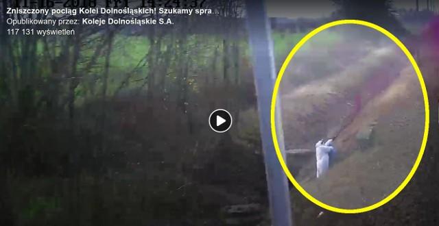 Policja i Koleje Dolnośląskie proszą o pomoc w ujęciu sprawcy aktu wandalizmu