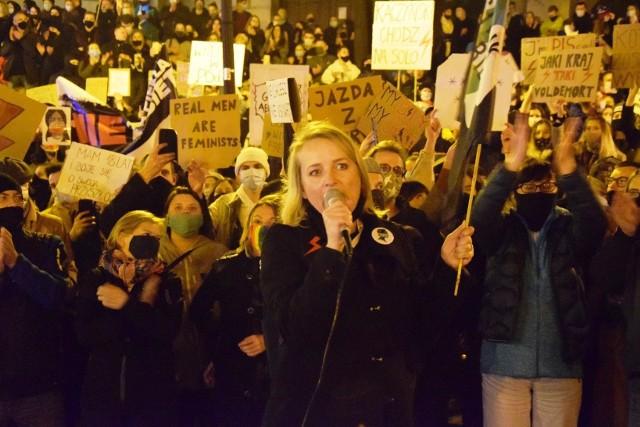 Strajk kobiet w Bielsku-Białej w październiku 2020
