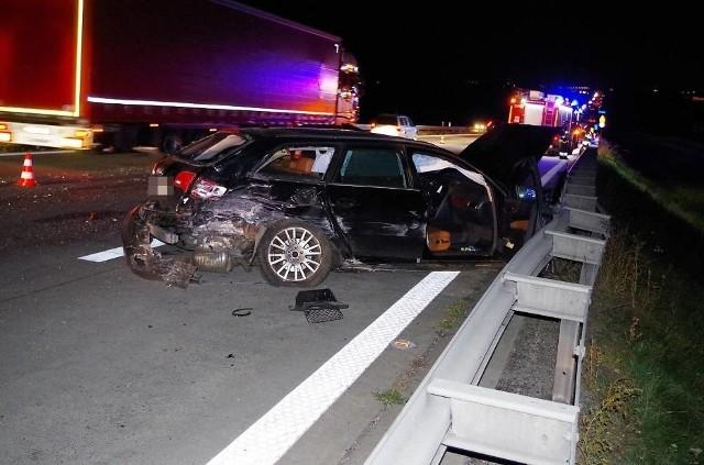 Do wypadku doszło na 96. kilometrze autostrady A4