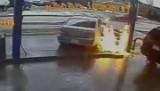 Staranował dystrybutor z paliwem (wideo)