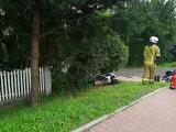 Wypadek na DK 75 w Niepołomicach. Samochód zderzył się z motocyklem