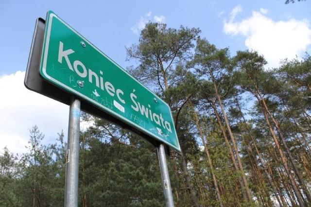 KONIEC ŚWIATAwoj. wielkopolskie, część wsi Głuszyna w gminie Kraszewice