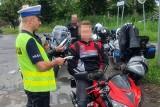 Policyjne kontrole motocyklistów. Dwóch nie miało uprawnień do kierowania