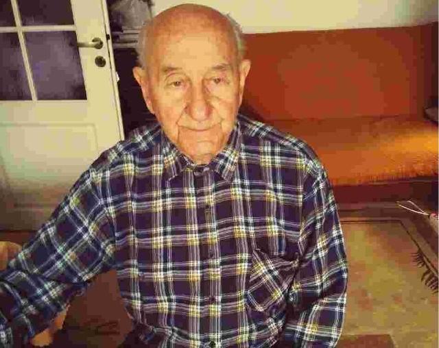 Czesław Lewandowski, były więzień niemieckiego obozu koncentracyjnego Stutthof