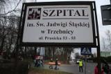 Pracownicy szpitala okupują starostwo w Trzebnicy