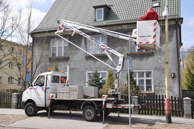 Szczecinecki ratusz ma montaż 32 kamer wydał kilkaset tysięcy złotych. Ulica Szczecińska, tu także jest kamera monitoringu.
