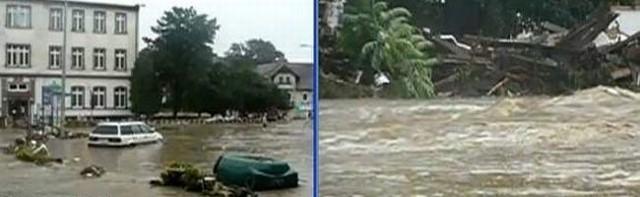 Powódź w Bogatyni.