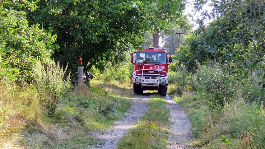 Pożar domu w Przybymierzu. Zdjęcia z akcji gaśniczej strażaków