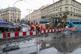 Utrudnienia w ruchu w centrum Krakowa potrwają dłużej