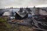 Duży pożar budynku w Głobinie koło Słupska [WIDEO]