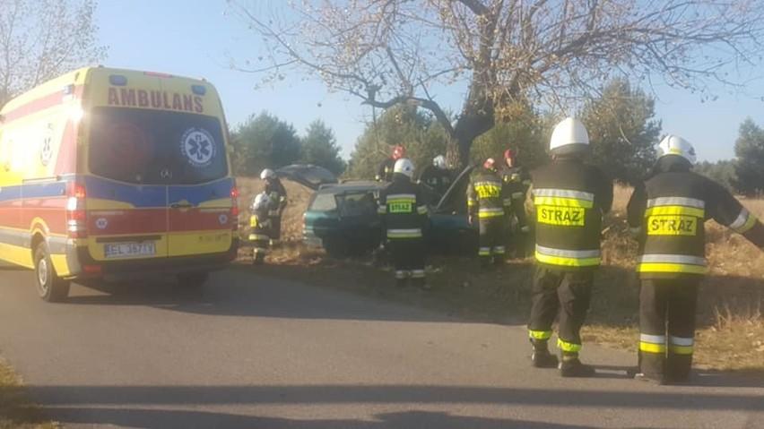 Do groźnie wyglądającego wypadku doszło w Januszkowie...