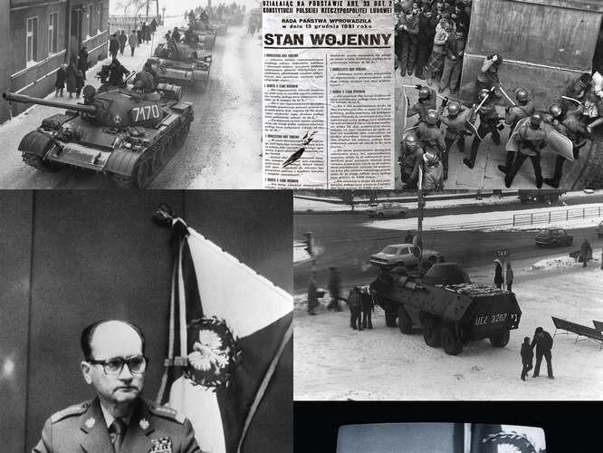 Stan Wojenny wprowadzono w Polsce 13 grudnia 1981 roku.