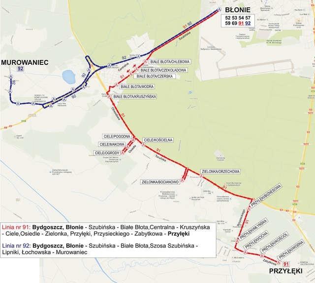 Nowe linie połączą Bydgoszcz z Osielskiem, Żołędowem, Niwami i Przyłękami