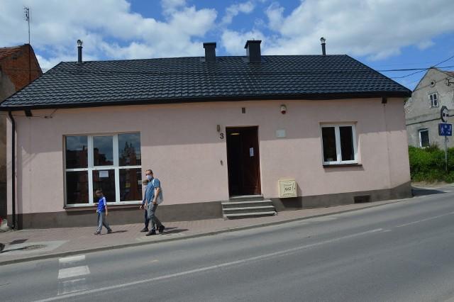 Tymczasowa siedziba proszowickiej Biblioteki Publicznej