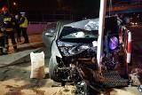 Wypadek na Rzgowskiej w Łodzi. W samochodzie pijany doktor i wykładowca akademicki. Zrzucali odpowiedzialność na innego kierowcę [ZDJĘCIA]